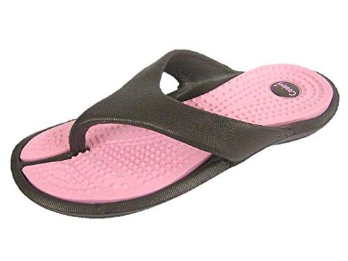 Coolers - Sandalias para mujer marrón/rosa