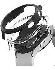 Ringke Slim Compatibel met Galaxy Watch 4 44mm Case, Lichtgewicht PC Hoesje (2 Stuks) - Clear & Black