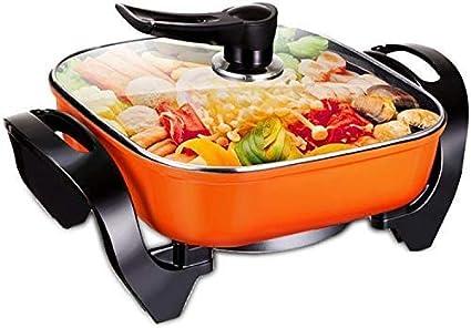 Olla de Cocina de cerámica Electrodomésticos Ollas Coreana de múltiples Funciones Cocina eléctrica Hervidor sartén Multiuso Caliente crisol de cocinar: Amazon.es