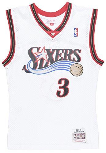 Mitchell & Ness Allen Iverson Philadelphia 76ers NBA Swingman HWC Jersey - White (Small)