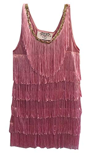 Charades Fashion Flapper Girl's Costume Dress, Pink, X-Small]()