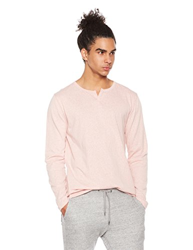Rebel Canyon Men's Young Long Sleeve Tri Blend Notched Neck Henley XX-Large Pink Heather