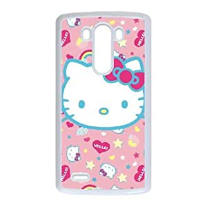 LG G3 Cell Phone Case White_Hello Kitty Pink, Hearts & Rainbows TR2231513