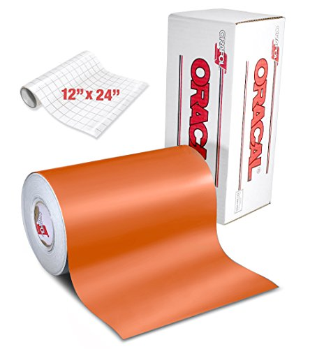 Thermal Transfer Film Roll (ORACAL 631 Matte Orange Adhesive Craft Vinyl 12