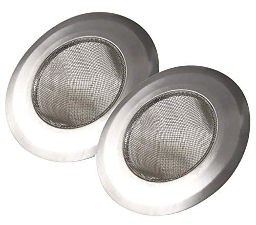Stainless Steel Kitchen Sink Strainer Large Wide Rim 4.25