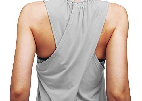Mippo Workout Tops for Women Yoga Tops Athletic Racerback Tank Tops Gym Clothes
