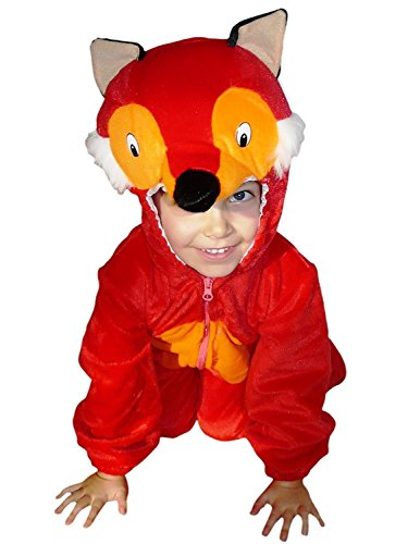 Fantasy World Boys/Girls Fox Halloween Costume, Size 5, (Fox And The Hound Halloween Costumes)