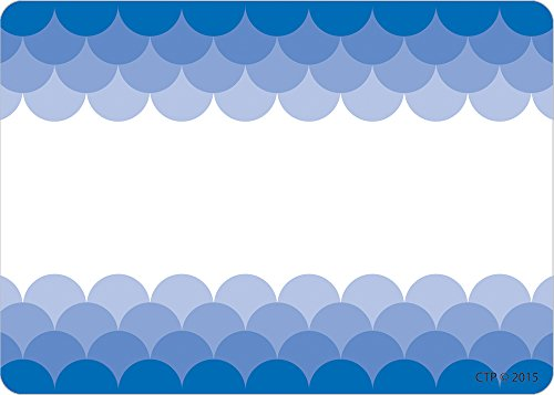 Creative Teaching Press Ombre Blue Scallops Labels (0718)