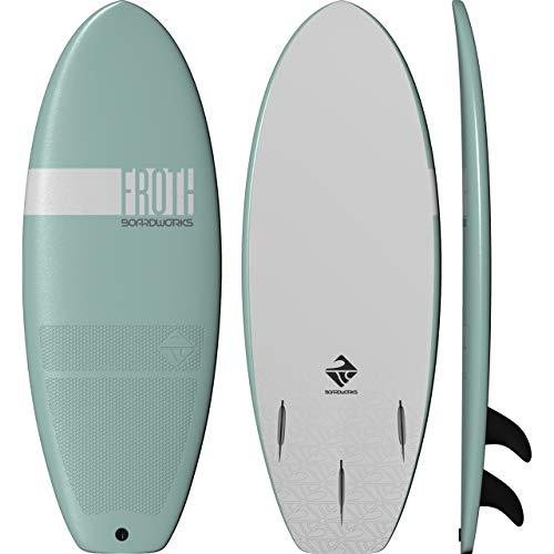 Boardworks Froth! Soft Top Surfboard   Wake Surf Surfboard   4'6