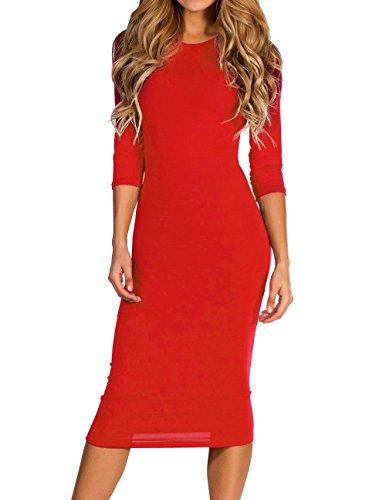 midi 3/4 sleeve dress - 8