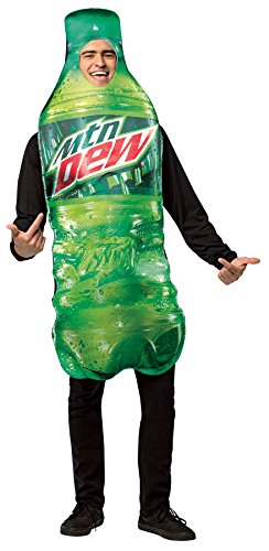 UHC Mountain Dew Bottle Outfit Fancy Dress Funny Comical Theme Party Costume, (Funny Fancy Dress Outfits)