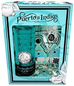 Pack Gin Classic Puerto de Indias Botella 700 ml. + Copa: Amazon ...