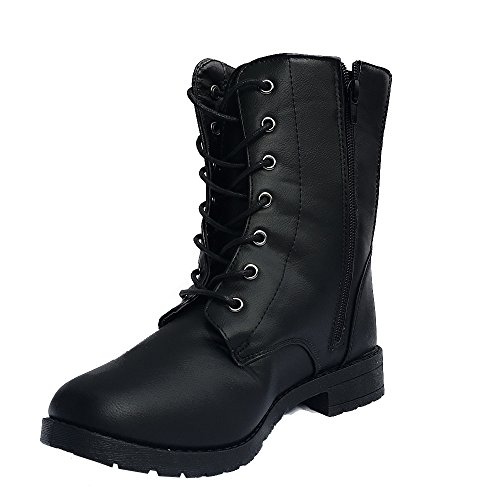 womens-combat-lace-up-boots-5-6-black