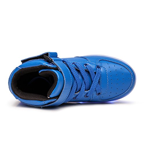 Sportive a Le Accendono Blu con Domande Sneakers LED Non Scarpe Luci Adulto DoGeek Scarpe Avete Se Luminosi contattarci esitate Unisex xqTwz0SP