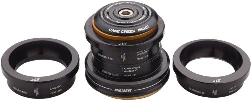 Cane Creek ZS49/EC49 AngleSet Tapered Headset Kit Black, One Size