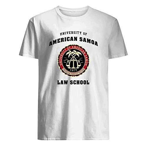 USA 80s TEE University of American Samoa Law School Shirt White]()