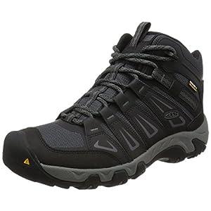 KEEN Men's Oakridge Mid Waterproof Shoe, Magnet/Gargoyle, 11.5 M US