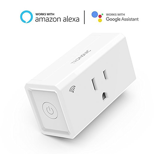 Mini Smart Plug, Wi-Fi Control Compatible with Amazon Alexa and Google Assistant, Tronsnic Plug in Adapter Wireless Home Power Timer No Hub Required Occupies Only 1 Socket by TRONSNIC