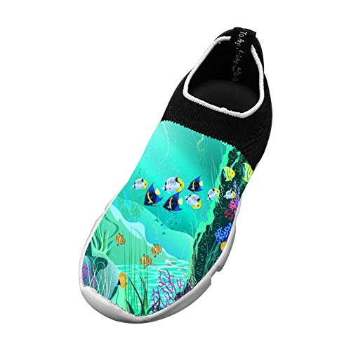 Fish 3D Printing Children's Slip-on Flyknit Outdoor Sport Shoes