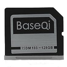 "BASEQI Aluminum 128GB Storage Expansion Card for MacBook Air 13"" and MacBook Pro 13""/15"" (Non-Retina)"
