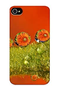 New Arrival Water Drops Reflecting A Daisy For Iphone 4/4s Case Cover Pattern For Gifts