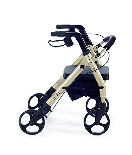 (Comodità Piccola (Petite) Heavy Duty Rollator Walker with Comfortable 15