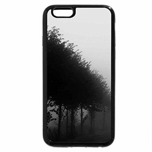 iPhone 6S Plus Case, iPhone 6 Plus Case (Black & White) - Beautiful foggy day