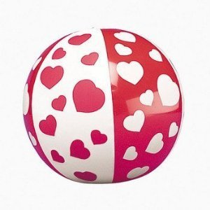12 Mini HEART Beach Balls/VALENTINES Day DECOR/Party FAVORS/