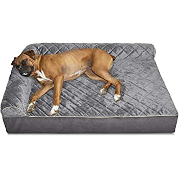 Image of Furhaven Pet Dog Bed | Therapeutic Chaise Lounge Sofa-Style Living Room Corner Couch Pet Bed w/ Removable Cover for Dogs & Cats - Available in Multiple Colors & Styles Pet Supplies