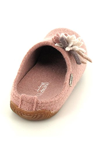 Living Kitzbühel Damen Pantoffel Edelweiß Pantoffeln Pink (Woodrose 334)