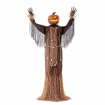 Sensor de movimiento para decoración de Halloween Espantapájaros Figura Dibujos Animados calabaza Harvester – Luces y