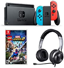 Nintendo Switch Lucid Lego Marvel Super Heroes 2 Bundle With Lucid Sound Ls20 Gaming Headset by Nintendo &Co