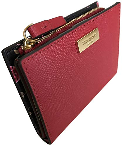 Kate Spade Shawn Laurel Way Hazy Rose Saffiano Leather Wallet Red
