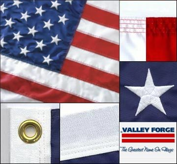 Valley Forge Presidential Series Nylon United States Flag/