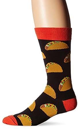 Socksmith Mens Crew Socks Tacos Black - One Size