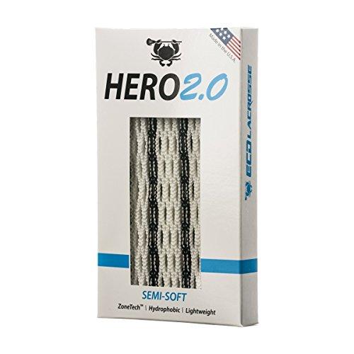 East Coast Dyes ECD Lacrosse Hero2.0 Semi-Soft Lacrosse Mesh Striker Black