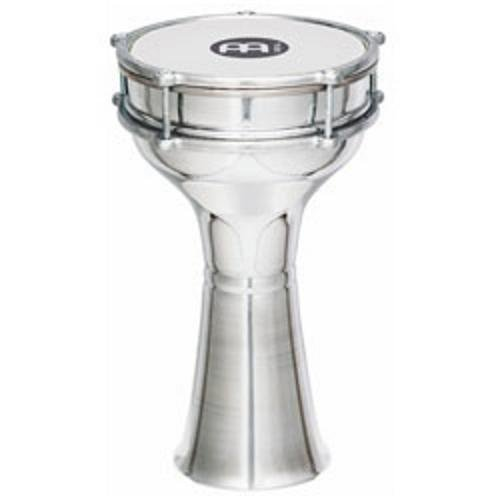 Meinl Percussion HE-103 Plain Aluminum Darbuka With Synthetic Head, 7.25-Inch by Meinl Percussion