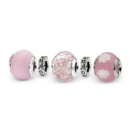 Jewelry Sets Bead Sets Sterling Silver Reflections Powder Puff Boxed Bead ()
