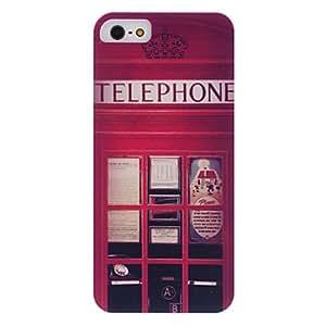 Conseguir Caso del patrón británico teléfono duro con marco transparente para el iphone 5/5s