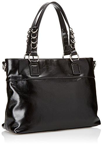 Gaudì Shopping Linea Adele, Borsa a Mano Donna, Nero (Black), 35 x 27 x 14 cm (W x H x L)