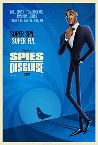 Amazon Com Spies In Disguise 2019 Original Authentic Movie Poster 27x40 Dbl Sided Will Smith Tom Holland Rashida Jones Everything Else