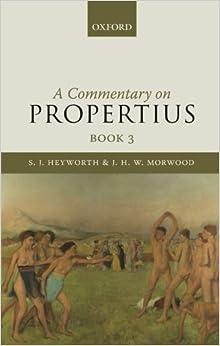 Descargar Libros De (text)o A Commentary On Propertius, Book 3 Torrent PDF