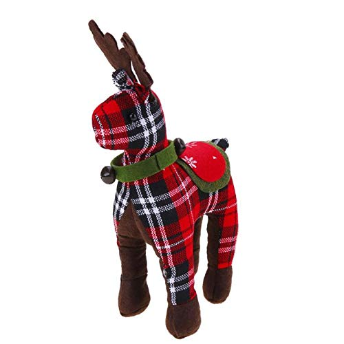 Pendant Drop Ornaments - 1pc Christmas Doll Ornaments Plaid Deer Kids Gifts Toys Decoration Year Party - Decoration Look Handicrafts Plates Houses Decor Party Home Theme -