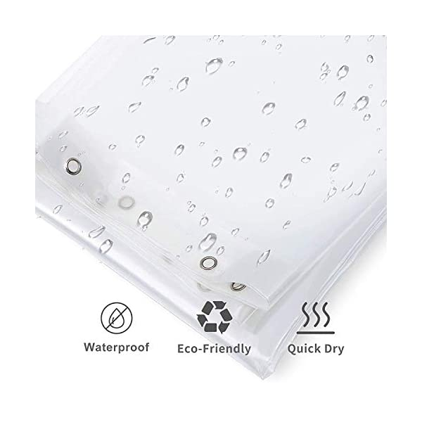 clear shower curtain and liner set