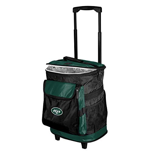 Logo Brands New York Jets 48-Can Rolling Cooler with Wheels and Backpack Straps