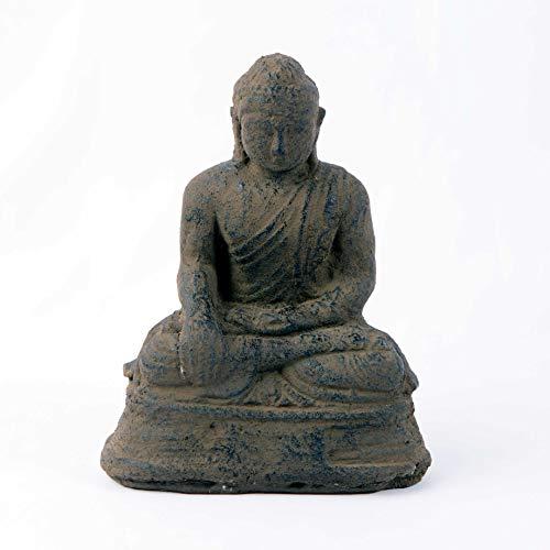 Small Volcanic Sitting Buddha Statue, Buddha Decorative Figurine, Meditating Sculpture, Home and Garden Decor (Garden Buddha Sculpture)