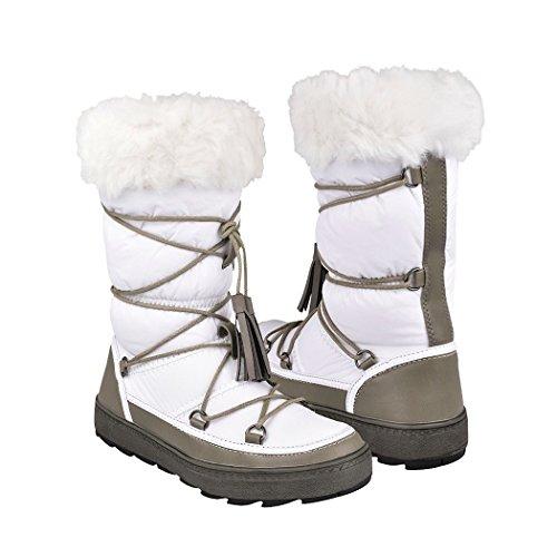 38a7759a75e92 Capa de Ozono Botas para Invierno para Mujer Textil White 31287-1 25