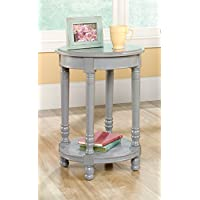 Country Side Table in Gray Finish