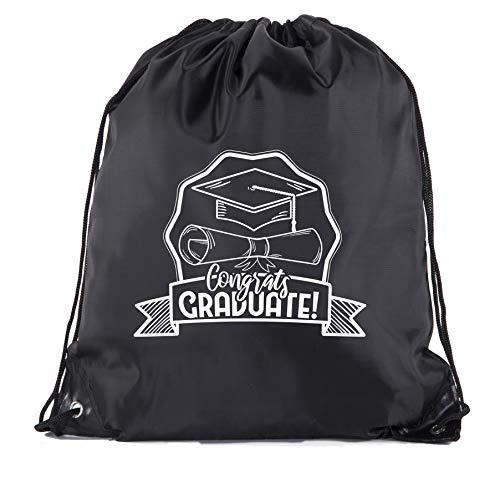 Senior Graduation Drawstring Backpacks Personalized Party Favor Cinch