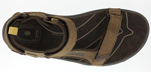Teva Herren Tanza Leder Sandale, Walnuss, 9.5 US Braun